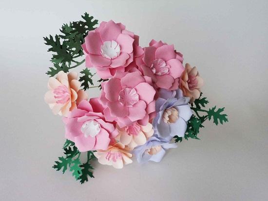 Buquê de papel lindo cor de rosa
