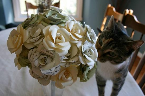 Buquê de papel pardo lindo e delicado