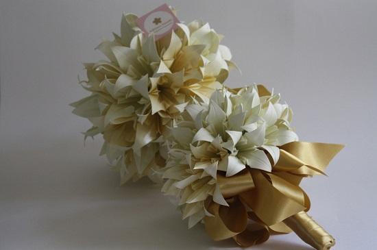 Buquê de papel para noivas
