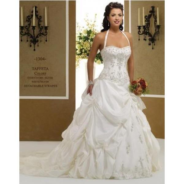 Vestido de noiva com alça e frente única.