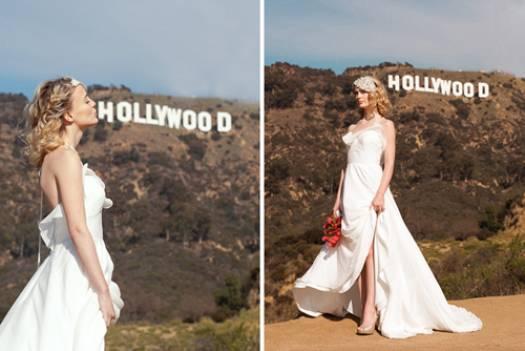 Vestido de casamento com fenda.