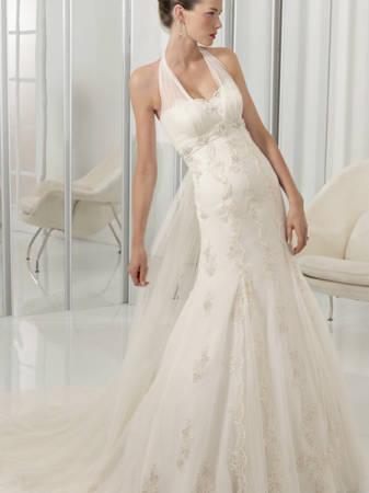 Vestido de noiva frente única.
