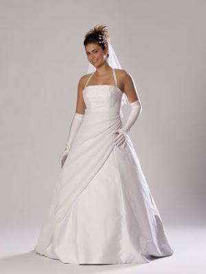 Vestido frente única para noivas.