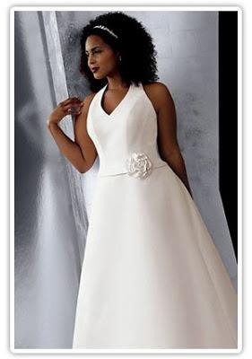 Vestido de casamento plus size.
