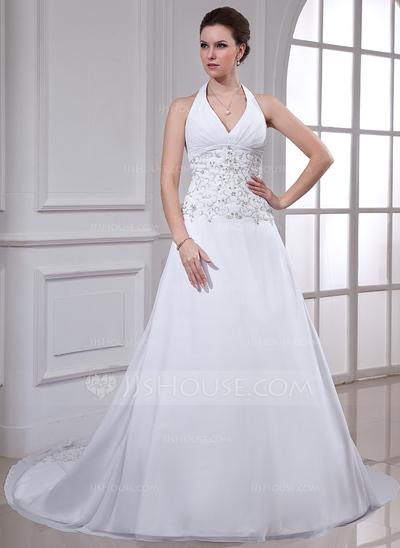 Vestido de noiva tradicional.