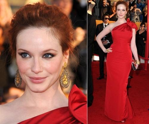 Vestidos de festa das famosas vermelho.
