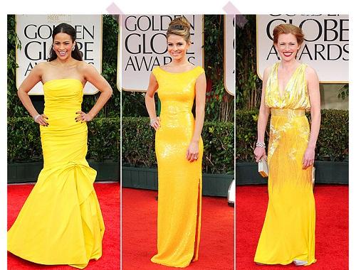 Vestido de festa amarelo sempre fica lindo.