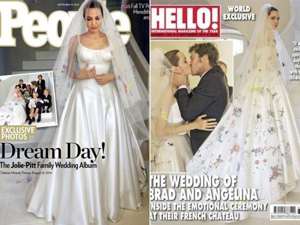Vestido de noiva Angelina Jolie 2014.