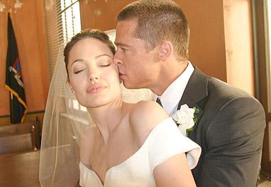 Angelina Jolie de noiva.