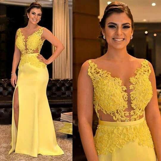 Vestido de madrinha de casamento amarelo : modelos e fotos