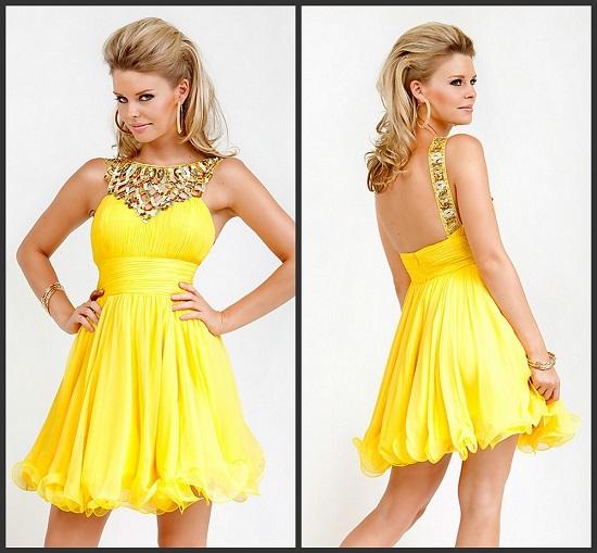 Vestido lindo amarelo
