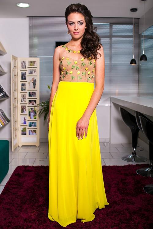 vestido de casamento amarelo