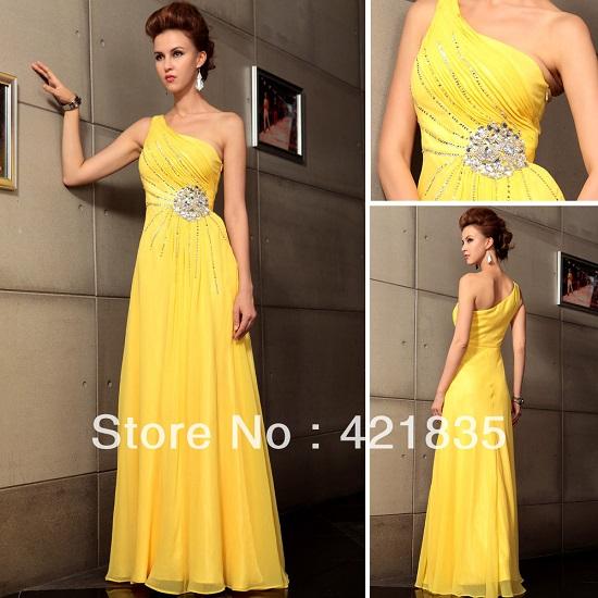 Vestido amarelo de madrinha de casamento (Foto: Reprodução)