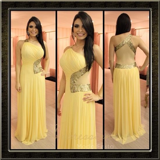 vestido amarelo diferente