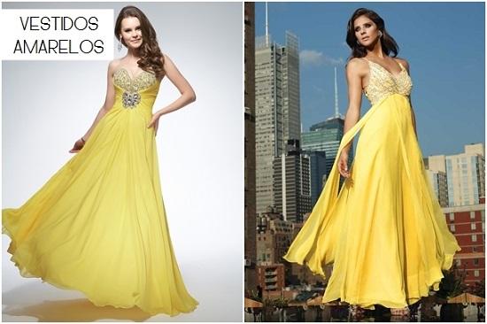 Modelos de vestidos amarelos de casamento lindos (Foto: Reprodução)