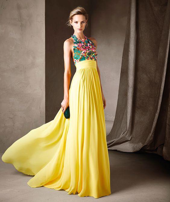 Vestido de madrinha de casamento amarelo : modelos e fotos 19 0002