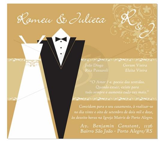 Convite de casamento divertido e lindo