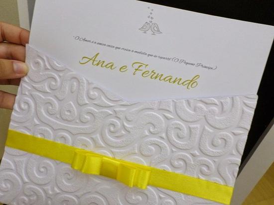 Envelope de convite de casamento trabalhado