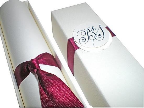 Convite de casamento em caixa