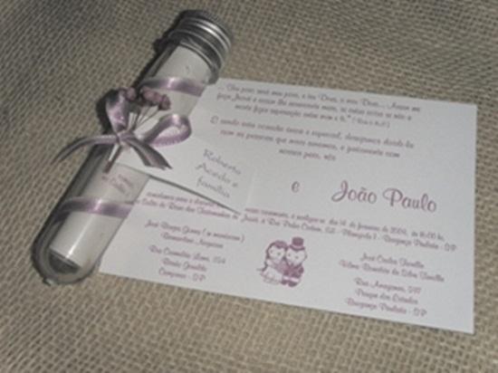 Convite de casamento com cubo de ensaio