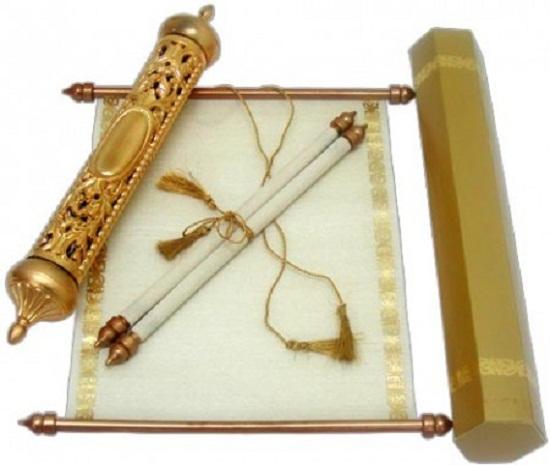 Convite de casamento em forma de pergaminho