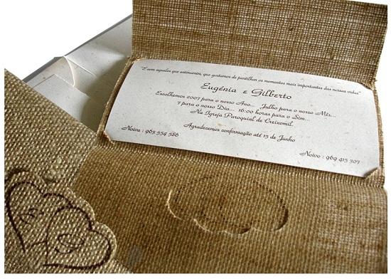 Convite bem artesanal (Foto: Reprodução)