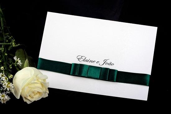 Convites de casamento verde