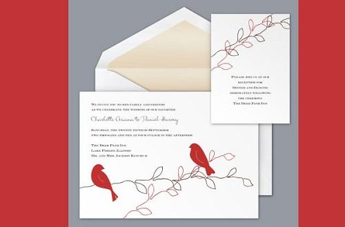 Modelo de convite de casamento delicado e tradicional