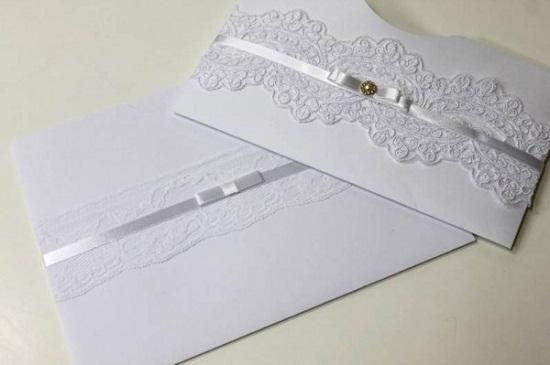 Convite de casamento artesanal lindo