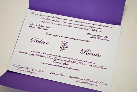 Convite de casamento mais tradicional