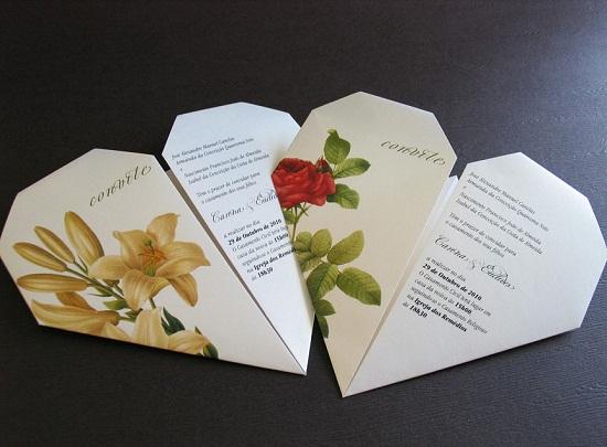 Convite de casamento original e diferente