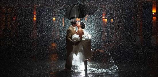 Foto linda na chuva