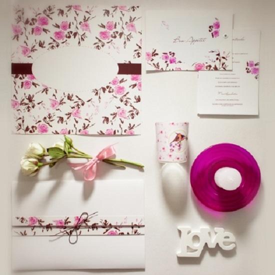 Convites de casamento artesanal