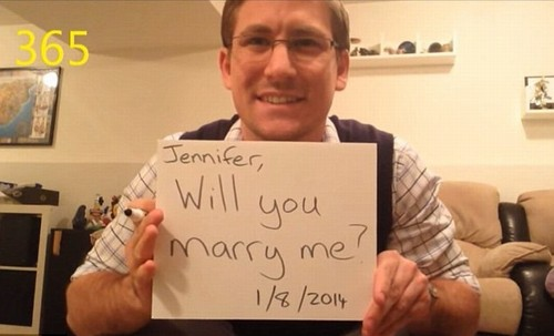 Pedido de casamento em vídoe