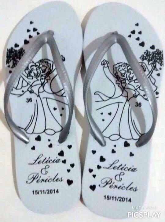 chinelos casamentos