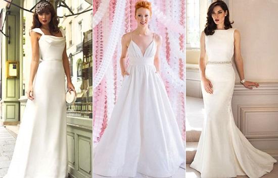 modelo de vestido de noiva minimalista