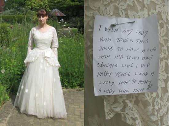 Brechó recebe vestido de noiva com bilhete apaixonante (Foto: Divulgação)