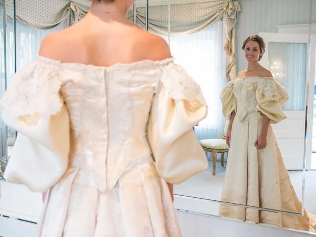 vestido de noiva com mais de 120 anos