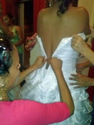Noiva vestido estourado