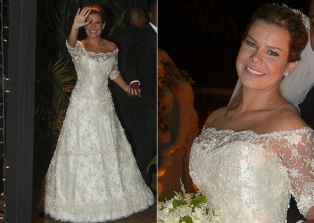 Vestido de noiva Fernanda Souza atriz